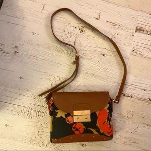 spartina+449+daufuskie+island leather/linen purse